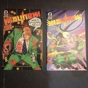 Mayhem #1 & #2  First printing 1989 Dark Horse Comic Book 1st Mask Movie