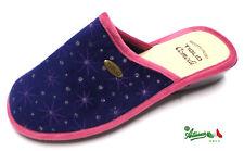 TIGLIO ciabatte pantofole donna invernali comode calde morbide 1641 blu italiane