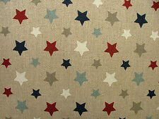 3 Metres Nautical Funky Stars Fabric Curtain Upholstery Cushions Quilting Craft