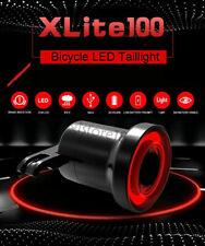 XLite100 Bicycle Bike Smart Brake Light Sense LED USB Tail Rear Lamp (A)