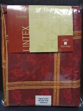 """Lintex Oval 60"""" x 104"""" Tablecloth in Holly Square"""