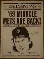 Tug Mcgraw Jsa Certified Authentic Hand Signed 11x14 69 Mets Litho Autograph