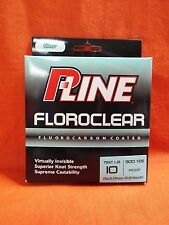 P-LINE Floroclear Fluorocarbon Coated Fishing Line 10lb (300yd) #FCCF-10 Clear