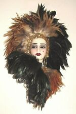 Unique Creations Limited Edition Art Deco Lady Face Mask Wall Hanging Decor