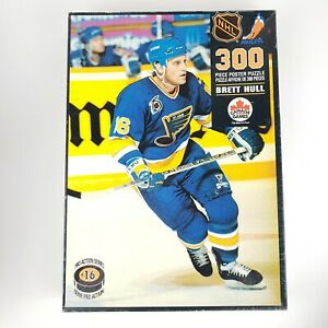 Vintage 1992 Brett Hull 300pc Poster Puzzle Official NHL 22x35 Complete