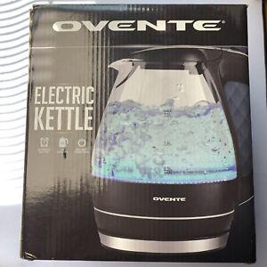 Ovente Glass Electric Kettle Water Tea Coffee Boiler 1.5 Liter 1100W Black KG83B