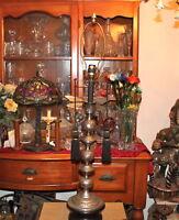 Vintage Middle Eastern Arabic Table Lamp Sphere Shape Engraved Floral Design