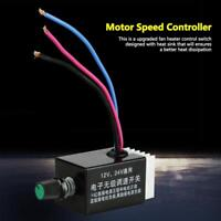 DC 12V 24V Motor Speed Controller Switch PWM For Car Truck Fan Heater Control SG