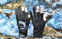 Red Black Gray Waterproof 3 Cut Finger Anti slip Non Slip Fishing Gloves