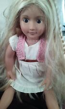"""Our Generation 18"""" Battat Doll with Growing brown eyes blonde hair"""
