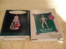 NIB 2 Miniature Hallmark Xmas Ornaments TIN MAN & CENTURIES OF SANTA