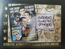2007 Celebrity Posters #GJA George Clayton Johnson Autographed Collector Card
