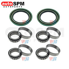 Pair Front Wheel Bearing& Race Set & Seal Kit Assembly Fit Ford F-150 Mazda 4WD