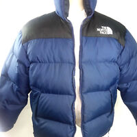 The North Face Mens Jacket Down RipStop Gore-Tex Coat Size M Blue Retail 249.00