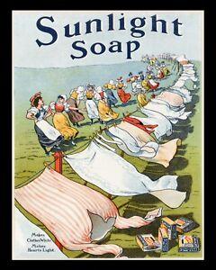 SUNLIGHT SOAP BATHROOM TOILET VINTAGE STYLE NOSTALGIC METAL SIGN TIN PLAQUE 1493