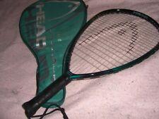 "Head Edge Pyramid Power Racquetball Racquet with cover/case 3 5/8"""