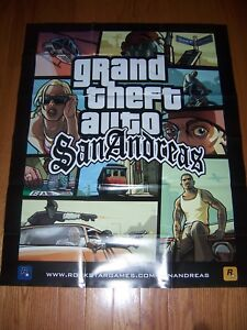 Grand Theft Auto San Andreas Poster and Map Official Rockstar Poster
