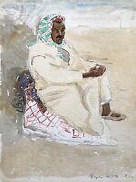 Karl Adser 1912-1995 Tunesischer Mann in traditioneller Kleidung Tunesien Djerba