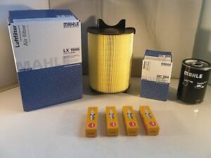 Audi A3 1.9 TDI Diesel Service Kit Oil Air Fuel Filter 2003 to 2010 MAHLE OPT2