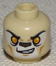 LEGO NEW TAN CHIMA BEAR NO CHIN STRAP MINIFIGURE HEAD DUAL SIDED