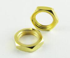 2 pcs Standard SMA Screw Nut 6.35mm 1/4 - 36UNS-2B Gold Plated New