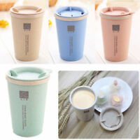 Leakage Proof Double-wall Insulation Wheat Straw Travel Mug Coffee Cup new