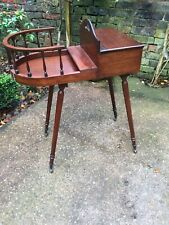 MAHOGANY STYLE OCCASIONAL SIDE WINE TABLE  With Storage