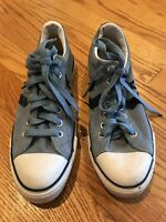 CONVERSE ALL STAR Sneakers Athletic Blue Suede Shoes Mens Sz 8 Womens Sz 10 #