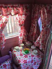 New FLOWER POWER PINK den, playhouse,  Wendy / summer house, curtains