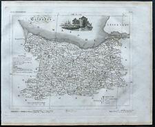Calvados - 1830 - Carte du département - Atlas Michel, Lorrain - Gravure