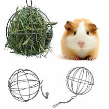 Sphere Feed Dispense Exercise Hanging Hay Ball Guinea Pig Hamster Pet Toy #EM3