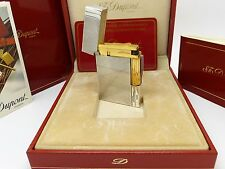S T Dupont Ligne 2 Gatsby Lighter Silver & Gold Plated  S/N:1J7EH98 Ex/Display