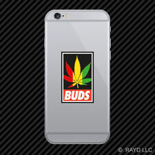 420 Rasta Marijuana Leaf Buds Cell Phone Sticker Mobile weed pot