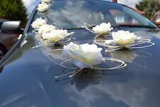 wedding car decorations, butterflies kit, white and ecru color avalible