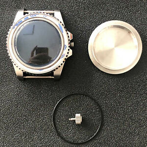 Watch Case SUB Convex Mirror Sapphire Glass 40mm Case Fit for NH35/NH36 Movement