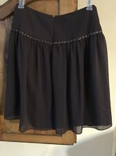 Isabella DeMarco Multi Brown Lined Skirt Size 6 NWT Retails $120.00