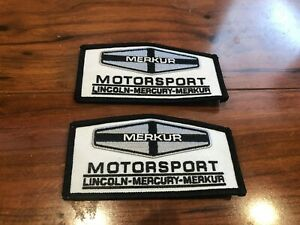 MERKUR LINCOLN MERCURY FORD MOTORSPORT XR4Ti SCORPIO JACKET SHIRT HAT PATCHES 2x
