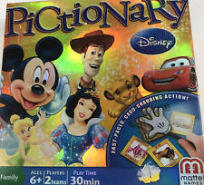 Mattel Disney Pictionary Game Collectible 100% Complete DVD Family Fun 2012