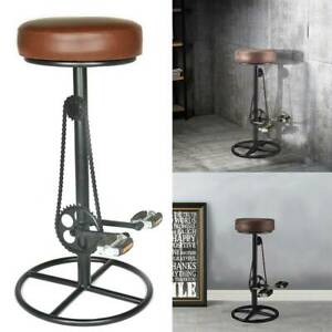 Vintage Retro Designer Rustic Kitchen Pub Bicycle Pedal Leather Bar Stools UK