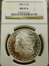 1880-S MS67* STAR SILVER MORGAN - NGC - PQ+ MIRRORED SURFACES BOTH SIDES!