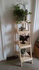 Wandregal, Leiterregal, Standregal, Pflanztreppe: Shabby