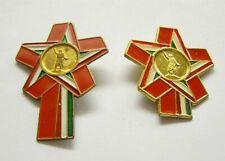 t136 Hungary Communist 1978 Revolutionary Youth days Petőfi Statue 2 Badges set