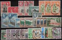 Ceylon British Lot mit alten Werten XI