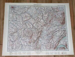 1932 ORIGINAL VINTAGE MAP OF EASTERN FRANCE BOURGOGNE FRANCHE-COMTE