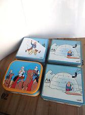 Lot de 4 boites Tintin
