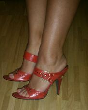 %%% Dereon by Beyoncé Sexy Sandales talons hauts Oriental rouille Gold Bohemian shoes