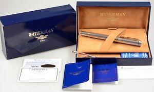 Vintage Waterman Man 100 Patronenfüller Silber fountain pen nib L solid silver