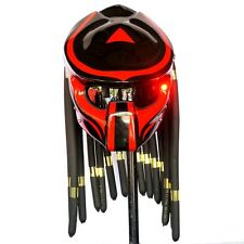 Custom Predator Helmet Glossy Red Open Face Bike Motorcycle Helmets Alien Mask