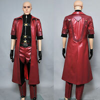 M-6XL DMC Devil May Cry IV 4 Dante Cosplay Costume Coat Jacket Halloween Party