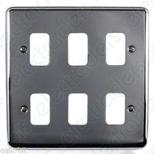 Deta G3345 Grid Cover Plate - 6 Gang Polished Chrome